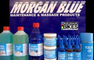 Morgan Blue Display with B Bikes logo 980x630